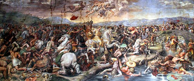 640px-Battle_of_the_Milvian_Bridge_by_Giulio_Romano,_1520-24