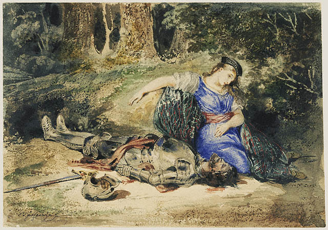 the death of lara - delacroix