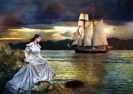 girl sea