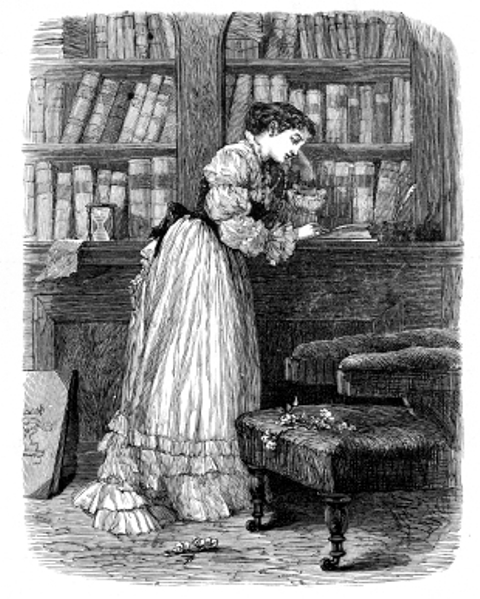 woman in library1