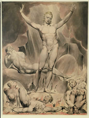 Satan Arousing the Rebel Angels,1808,William Blake