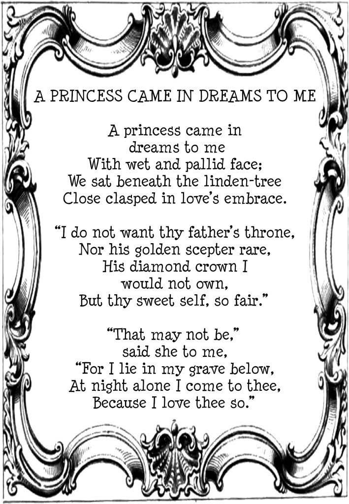 A PRINCESS CAME IN DREAMS TO ME