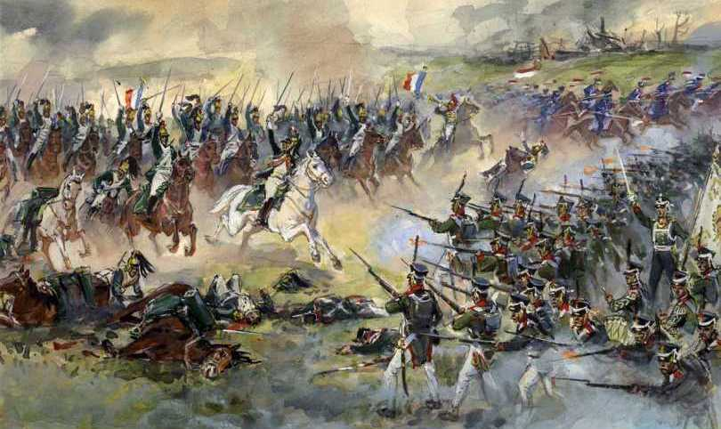 French_dragoons_Polish_uhlans_Russian_infantry_1812
