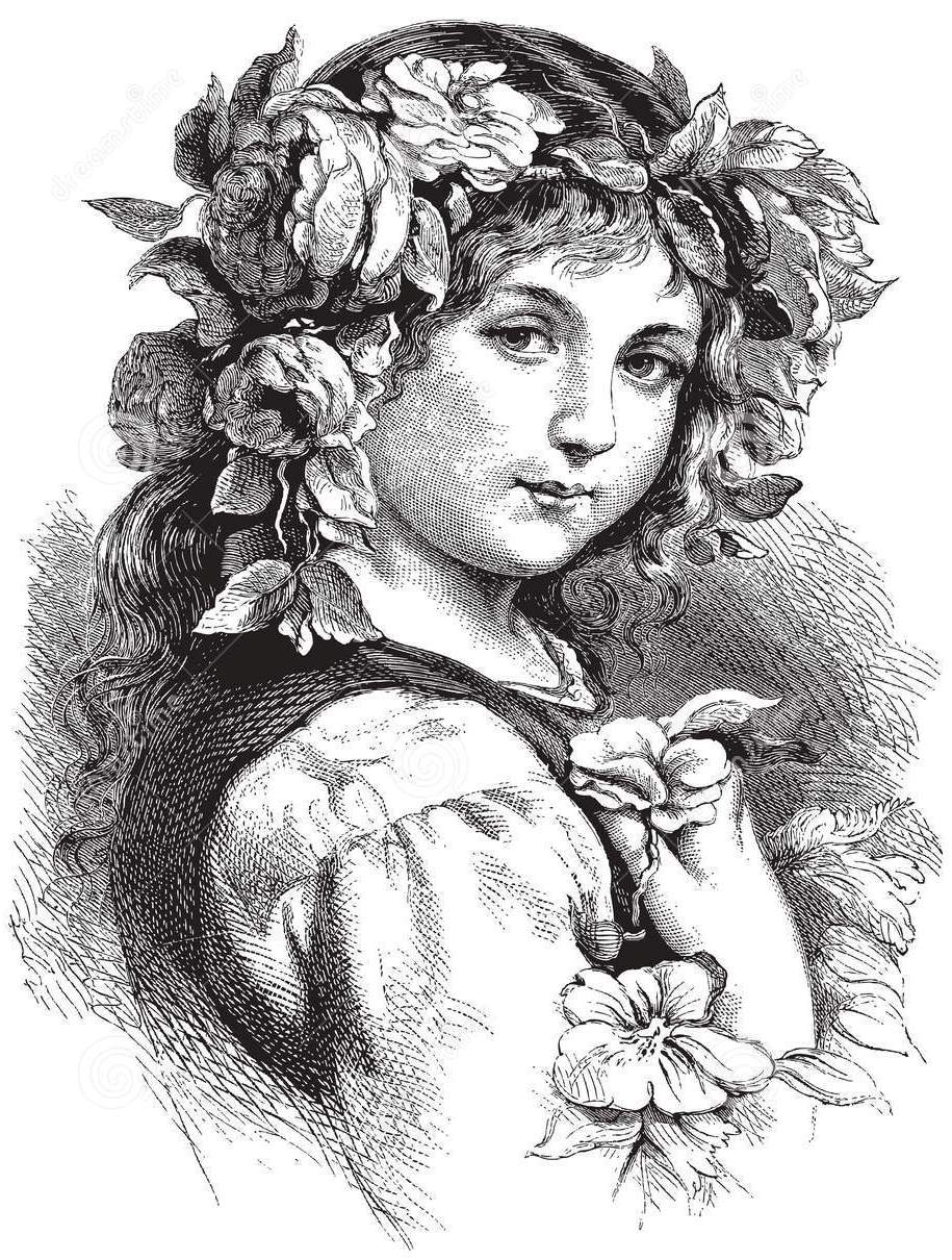http://www.dreamstime.com/royalty-free-stock-images-vintage-girl-woman-flowers-her-hair-image14248959