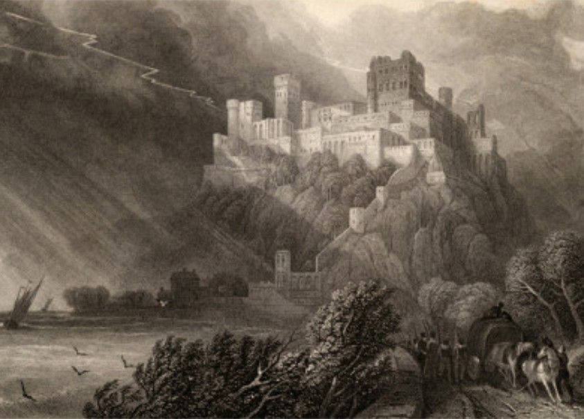 david-roberts-the-ruins-of-rheinfels-engraved-by-w-radclyffe-illustration-from-the-pilgrims-of-the-rhine